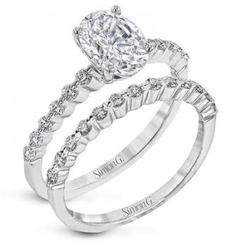 18K WHITE GOLD, WITH WHITE DIAMONDS. MR2173-D-OV - WEDDING SET