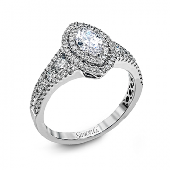 18K WHITE GOLD, WITH WHITE DIAMONDS. MR2591 - ENGAGEMENT RING