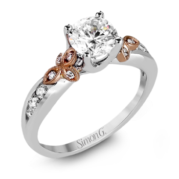 18K TWO TONE GOLD MR2646 ENGAGEMENT RING
