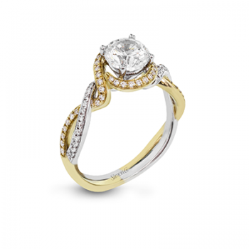 18K TWO TONE GOLD MR2708 ENGAGEMENT RING