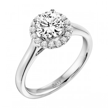 Round Brilliant Cut Diamond Halo Ring
