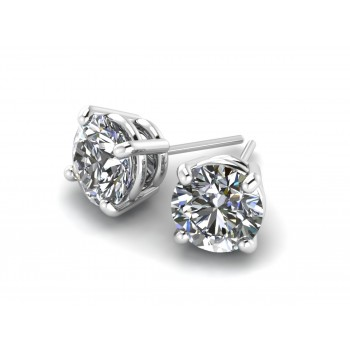 14K White Gold Diamond Studs 1.60 carats