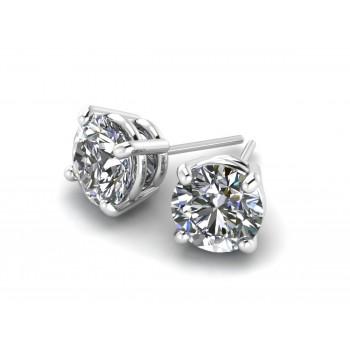 14K White Gold Diamond Studs 1/3 carat