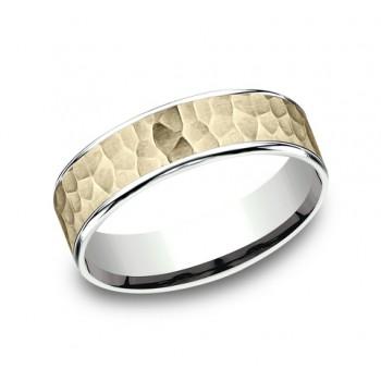 BENCHMARK Mens 14k Yellow Gold Wedding Band CFT206576314KWY