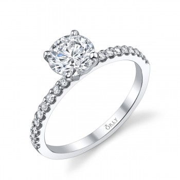 Round Brilliant Cut Diamond in Elegance Setting